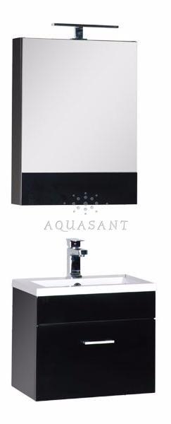 Подвесная мебель для ванной «Albert&Bayer» 50 чёрный глянец – купить по низкой цене в интернет-магазине Аквасант-Ру