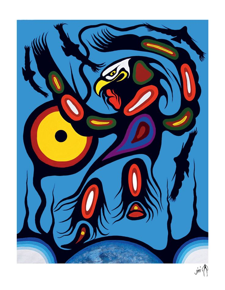 Eagle Dancer by Frank Polson. Cultural Background: Algonquin, Long Point First Nations, QC