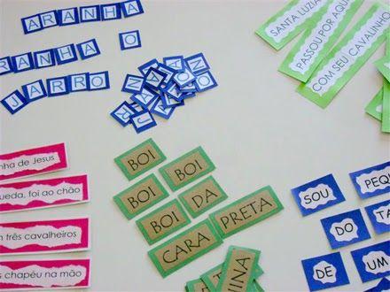 fichas de jogos de alfabetização
