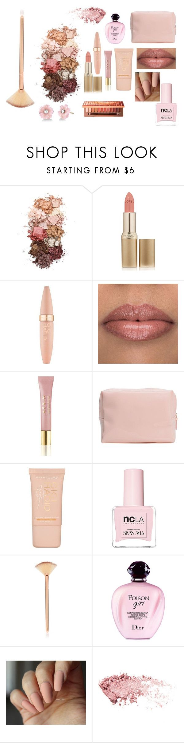"""""""soft"""" by elfafungian on Polyvore featuring beauty, Sigma, L'Oréal Paris, Maybelline, AERIN, ncLA, Christian Dior and Irene Neuwirth"""