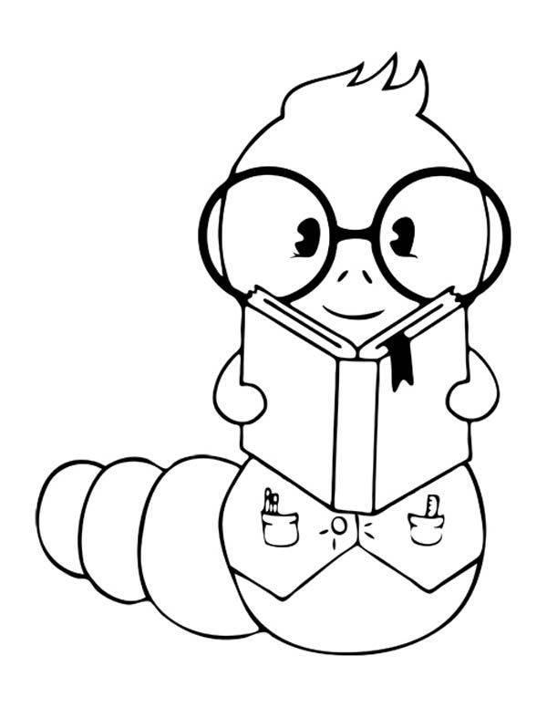 Bookworm Coloring Page Pages Sketch Coloring Page Book Worms Coloring Pages Online Coloring