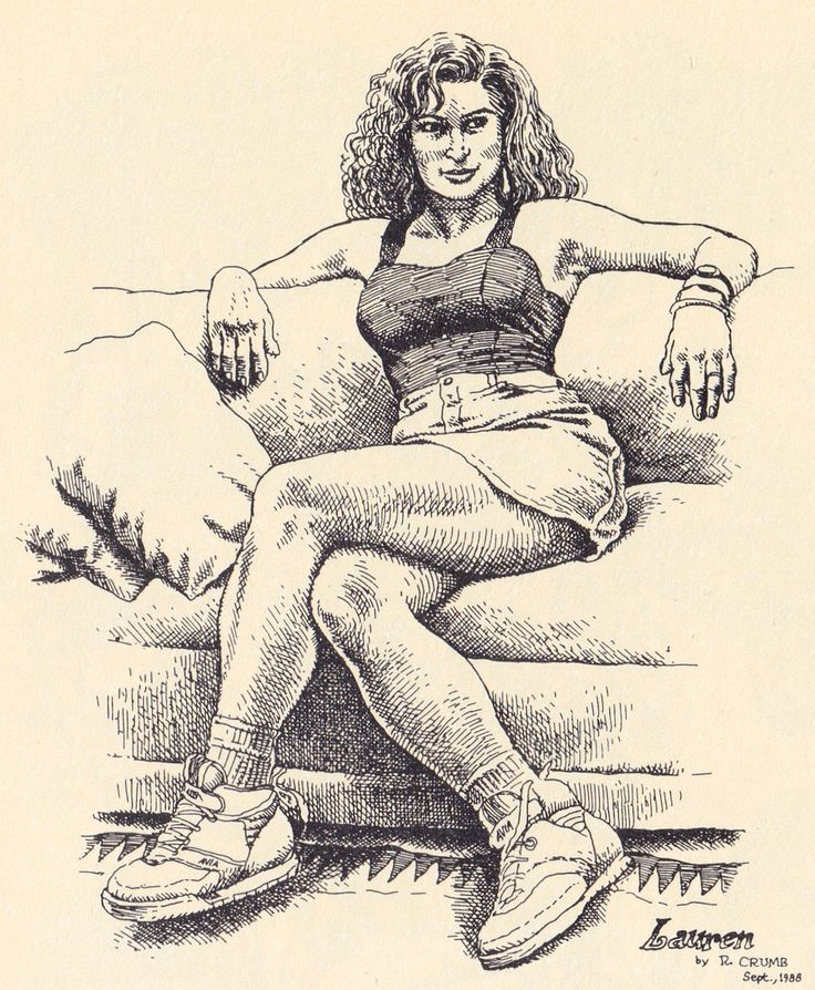 "Robert Crumb - LAUREN   1988 From ""R. CRUMB - Miettes"" - Editions du Seuil Paris 2001"