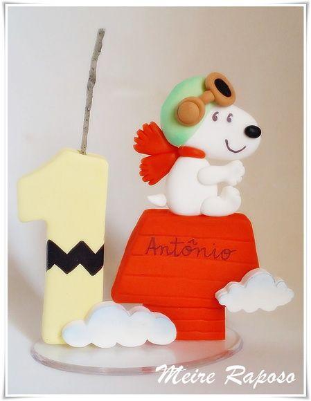 Vela Personalizada Snoopy