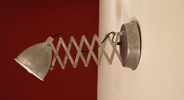 recycled lamp wall by Gille Monte Ruici