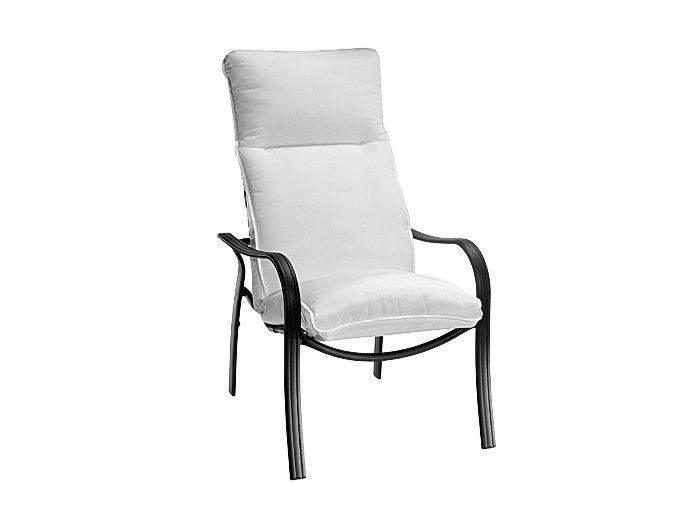 Holly Hill Cushion Aluminum High Back Arm Dining Chair Homecrest Outdoor Livi