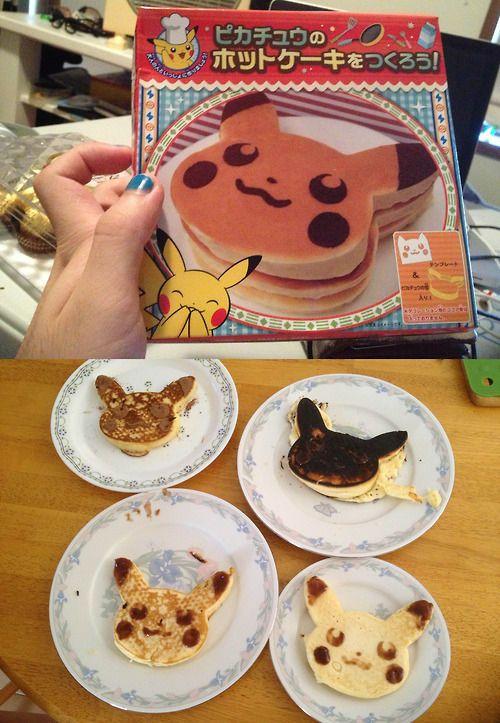 Make a hot cake of Pikachu