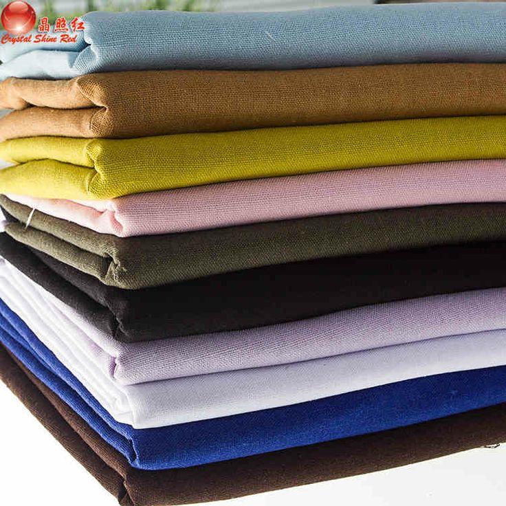 Твердые равнины льняной ткани льняные ткани хлопок белье одежда поделки ручной работы льняная ткань фон ткани ткань-tmall.com Lynx