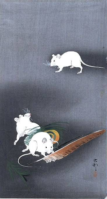 A drawing of 3 mice - Охара, Косон — Википедия