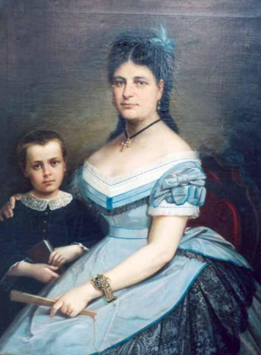 Gheorghe Tăttărescu - Soţia pictorului cu fiul