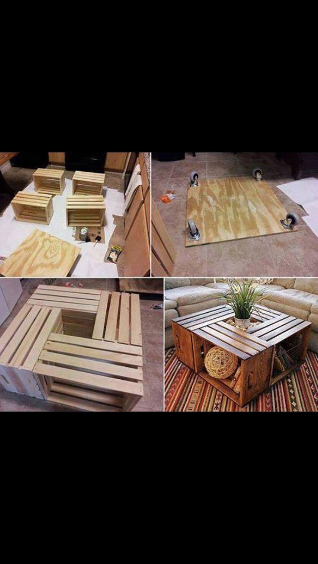 Coffee Table Idea Using Crates