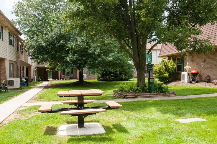 West Goshen court yards with charcoal BBQ.  yourmetropolitan.com/westgoshen