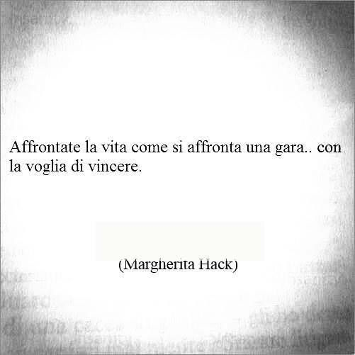 M. Hack...grande Margherita!