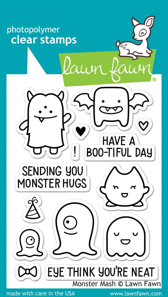 OMG these critters are so monster cute! And monsters are not just for Halloween! And by one of my favourite stamp sources ever, too!   Monster Mash by Lawn Fawn