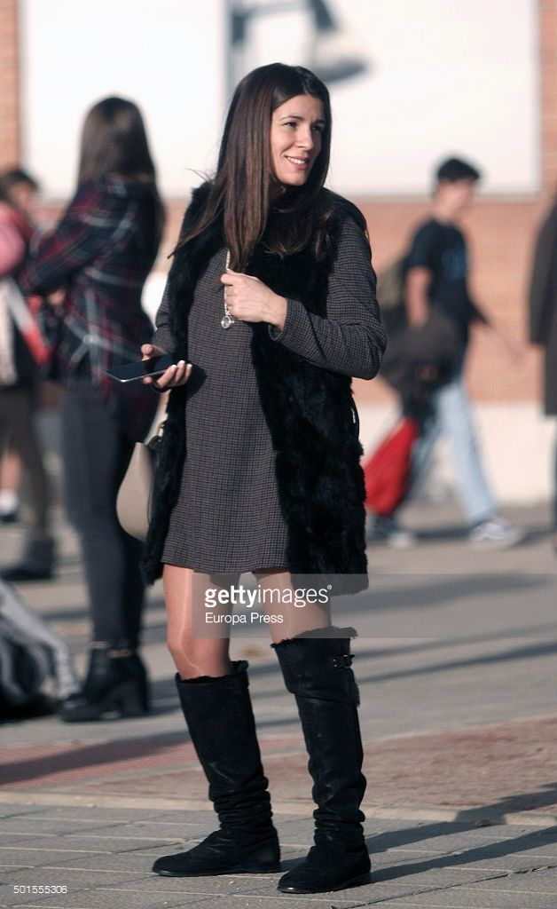 Football player Fernando Torres's wife Olalla Dominguez is seen on December 15, 2015 in Madrid, Spain.