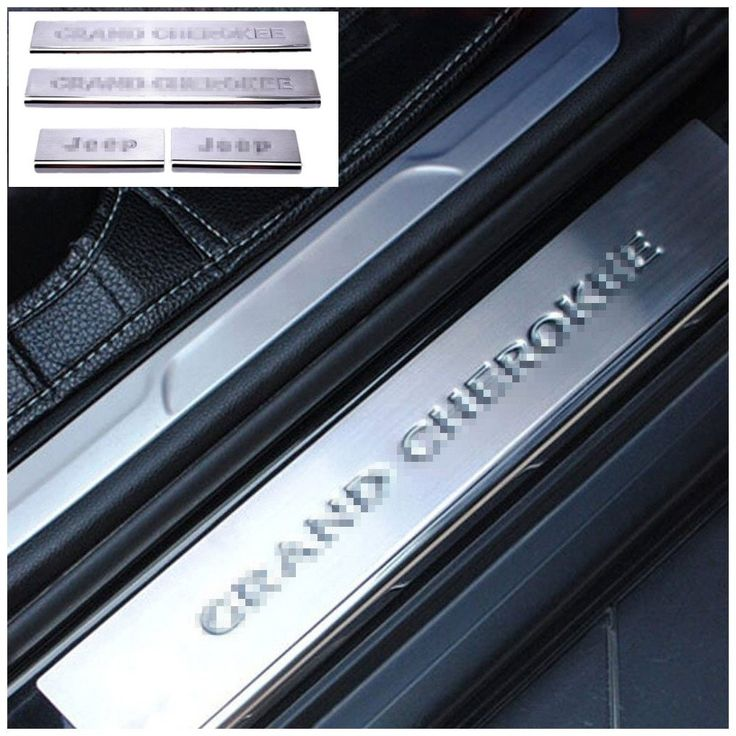 Nicebee 4pcs Stainless Steel Door Front & Rear Sill Entry