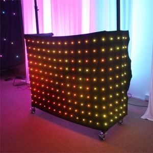 1029.05$  Watch here  - Hot 2Mx3M Flexible P9 Led Video Version Cloth Curtain RGB  Soft Portable DJ DMX Background Holiday Decoration with SD Controller