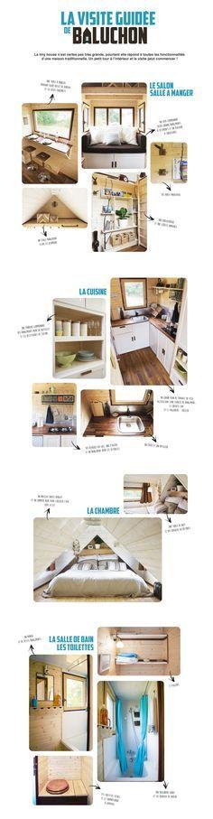 Tiny House baluchon - visite guidée. bourrée de bonne idées - j'adore la salle de bain.
