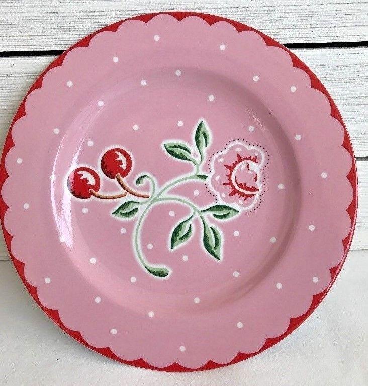 Sakura Cherry Blossom Snack Lunch 8 Plate Mary Engelbreit Pink