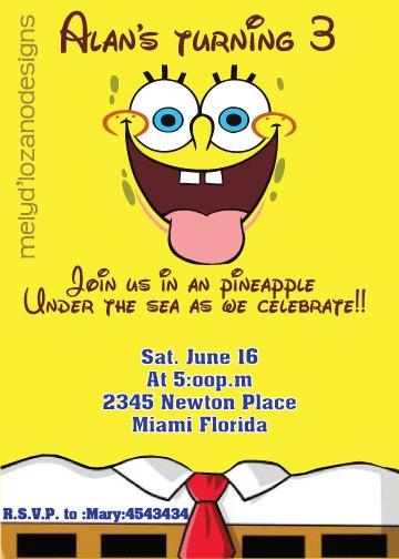 Best Bob Esponja SpongeBob Images On Pinterest Bobs Sponge - Birthday invitation spongebob background
