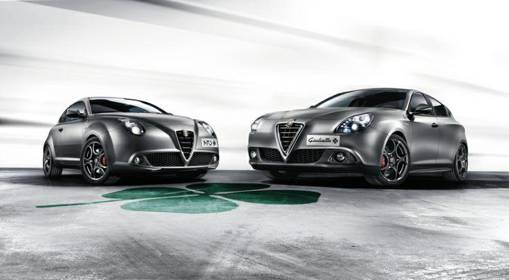 """Alfa Romeo Mito and Giulietta """"Quadrifoglio Verde"""". With special matte grey paint."""