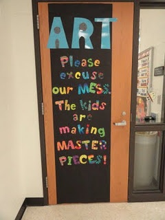on an art classroom door...but would work for my room, too!