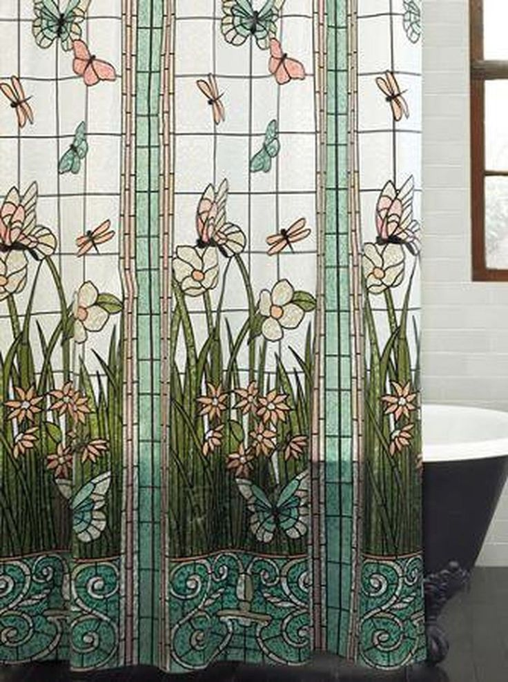 Mainstays Stained Glass Meadow PEVA Shower Curtain in Home & Garden, Bath, Shower Curtains | eBay