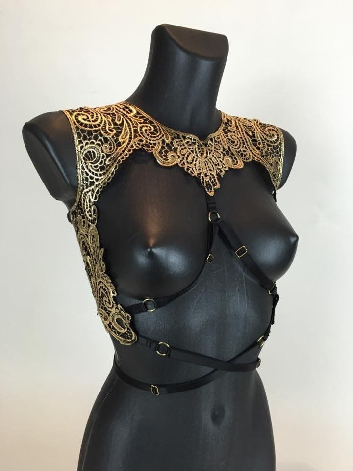 DYNASTY - Gold Filigree Cage Bralette - apparel lingerie, honeydew intimates, honeydew intimates *ad