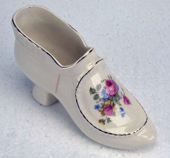 Victorian Porcelain Shoes Large Porcelain Shoe