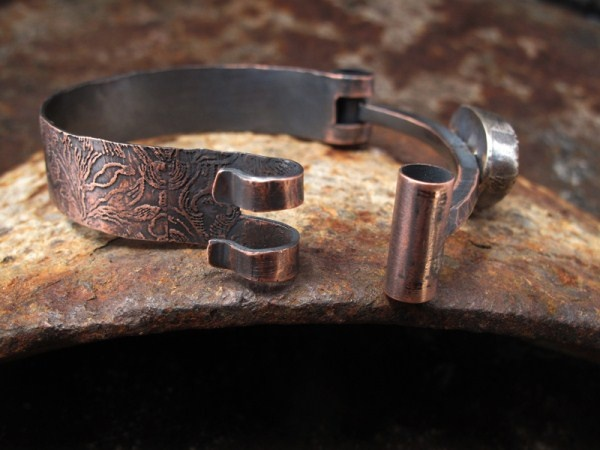 bracelet by Richard Salley. love the hinge/catch.