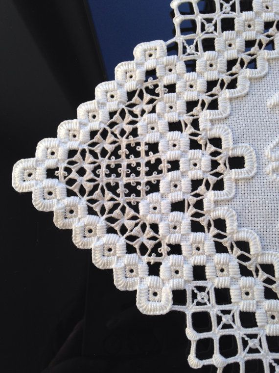 Gorgeous centerpiece hardanger embroidery by HandmadeParis https://www.etsy.com/listing/196006778/gorgeous-centerpiece-hardanger?ref=shop_home_feat_2