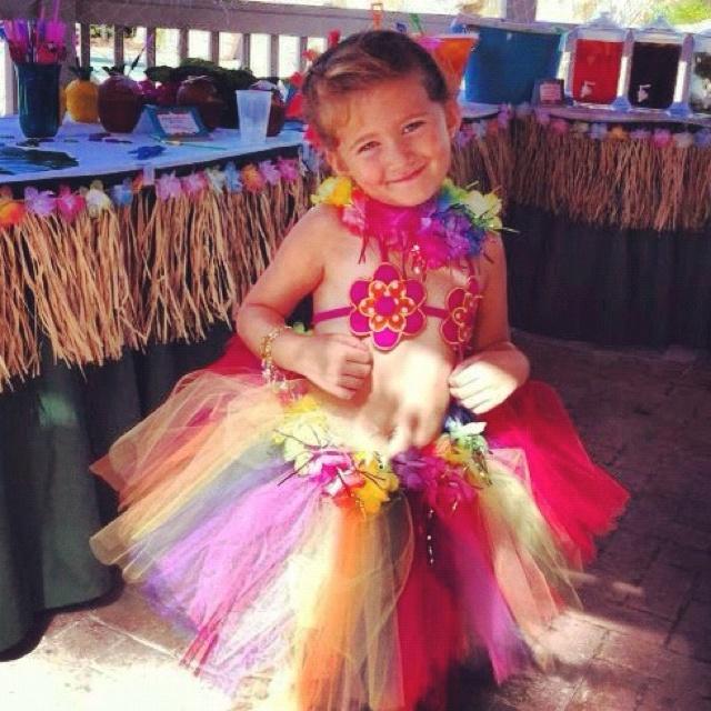 Birthday girl in tutu