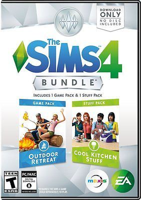 The Sims 4 Bundle Pack: Outdoor Retreat and Cool Kitchen Stuff Pack - PC