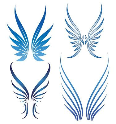 calvin klein: small angel wing tattoos