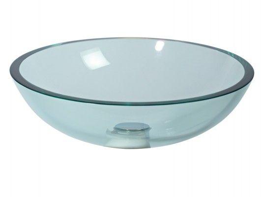 Glaswaschbecken Aufsatzwaschbecken transparent Lineabeta 42 cm 001
