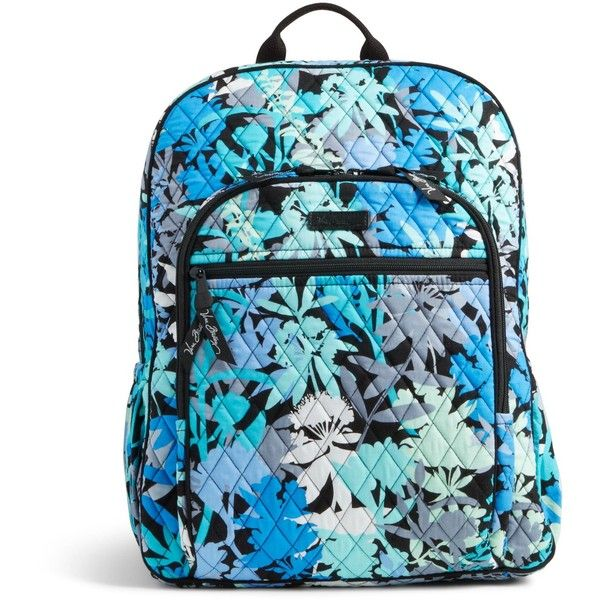 Vera Bradley Campus Backpack in Camofloral ($109) ❤ liked on Polyvore featuring bags, backpacks, camofloral, blue bag, vera bradley, rucksack bag, vera bradley backpack and padded bag