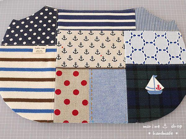 JUGEMテーマ:handmade      気が向いた時にしか作らなくなってしまいましたが、久し振りにリバティ以外の布を引っ張り出して来ました。      マリンパッチで、グラニーバッグを制作中。