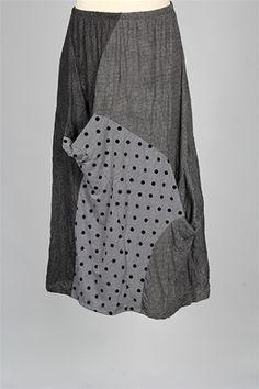 Alembika - Popy Skirt - Grey Black - Alembika at Fawbush's