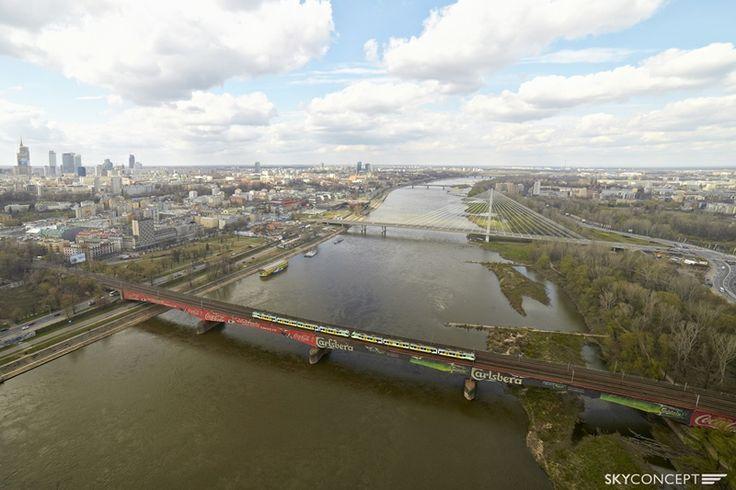 Zdjęcie lotnicze Mostu Świętokrzyskiego - Warszawa.