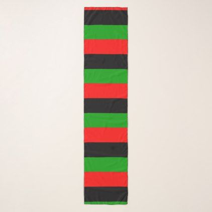 Red Black Green Horizontal Pan African Flag Scarf - black gifts unique cool diy customize personalize
