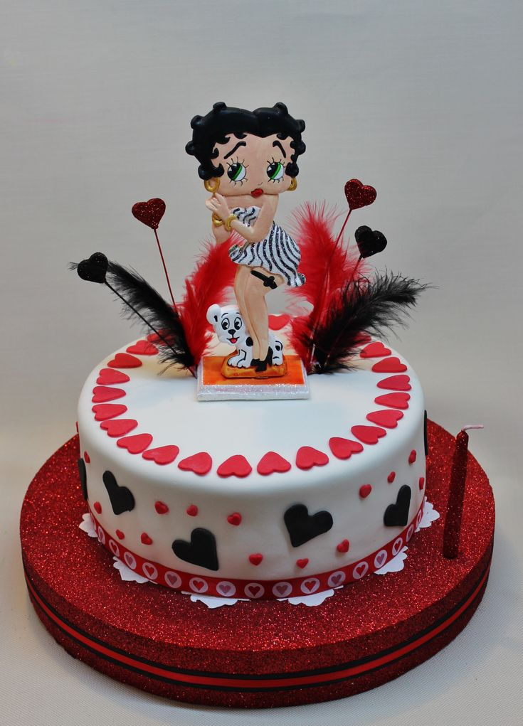 Betty boop cake by violeta glace cakes pinterest for Glace decoration