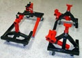 Easy Access adjustable rolling jack stands