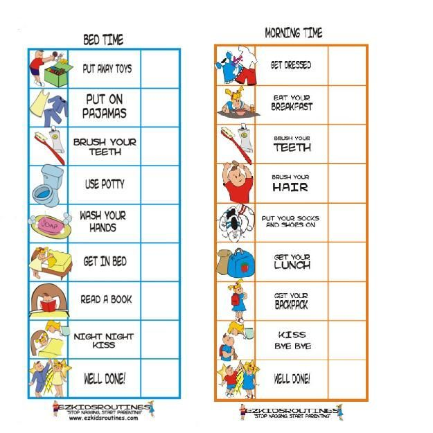 daily routine charts for kids with pictures | artwork of john mcdiarmid ontario how do you score ultimate fighting ...
