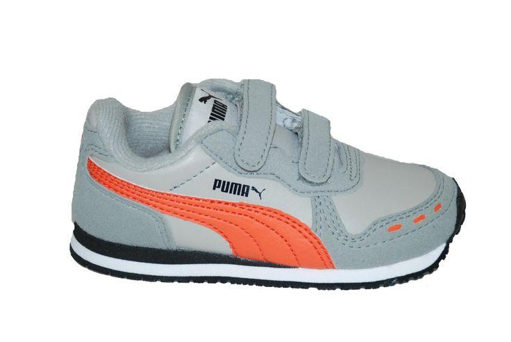 Παπούτσι αθλητικό #Puma, γκρι/πορτοκαλί με αυτοκόλλητα κουμπώματα. www.mouyer.gr/store/products/collections/season2015S/itemA10006-3153-32