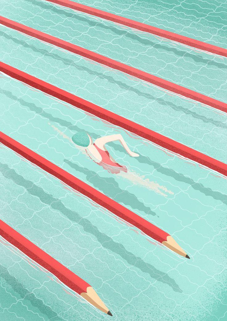 "© Sara Gironi Carnevale For Artwort Magazine - Me in five illustrations"" Selected Artwork for Autori di Immagini Annual 2017"