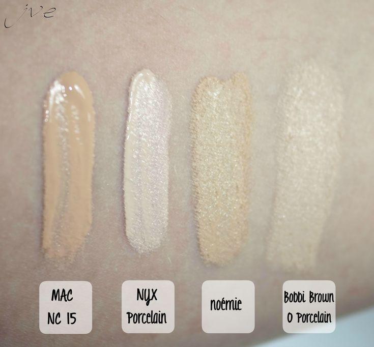 Mac NC15 Studio Finish Concealer vs NYX Porcelain Full Coverage - Concealer in a Jar