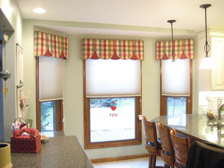 Astounding Design Window Curtain Valance With Glass Bay Window And Gingham  Kitchen Curtains Valances : Astounding Design Window Curtain Valance With  Glass ...