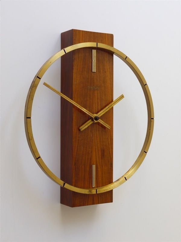 A modern clock from a bicycle wheel