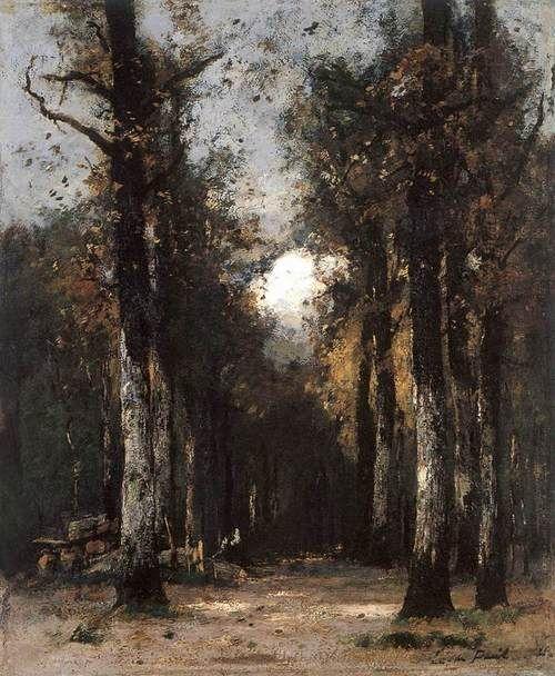 ❦ PAÁL, László Hungarian painter (b. 1846, Zám, d. 1879, Charenton) The Depth of the Forest1877