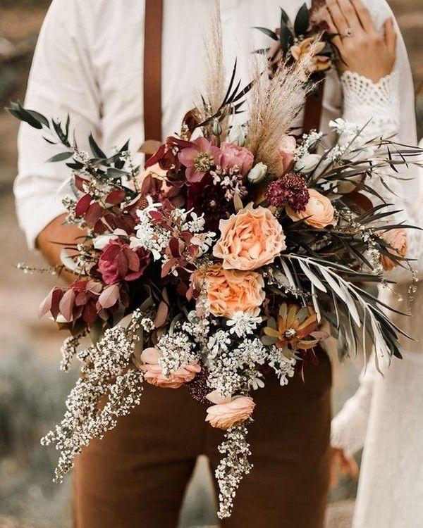Derrick Jamie Bohemian Garden Wedding 19: Top 20 Boho Chic Wedding Bouquet Ideas For Fall 2019
