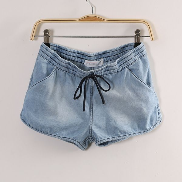 Blue Drawstring Denim Pant